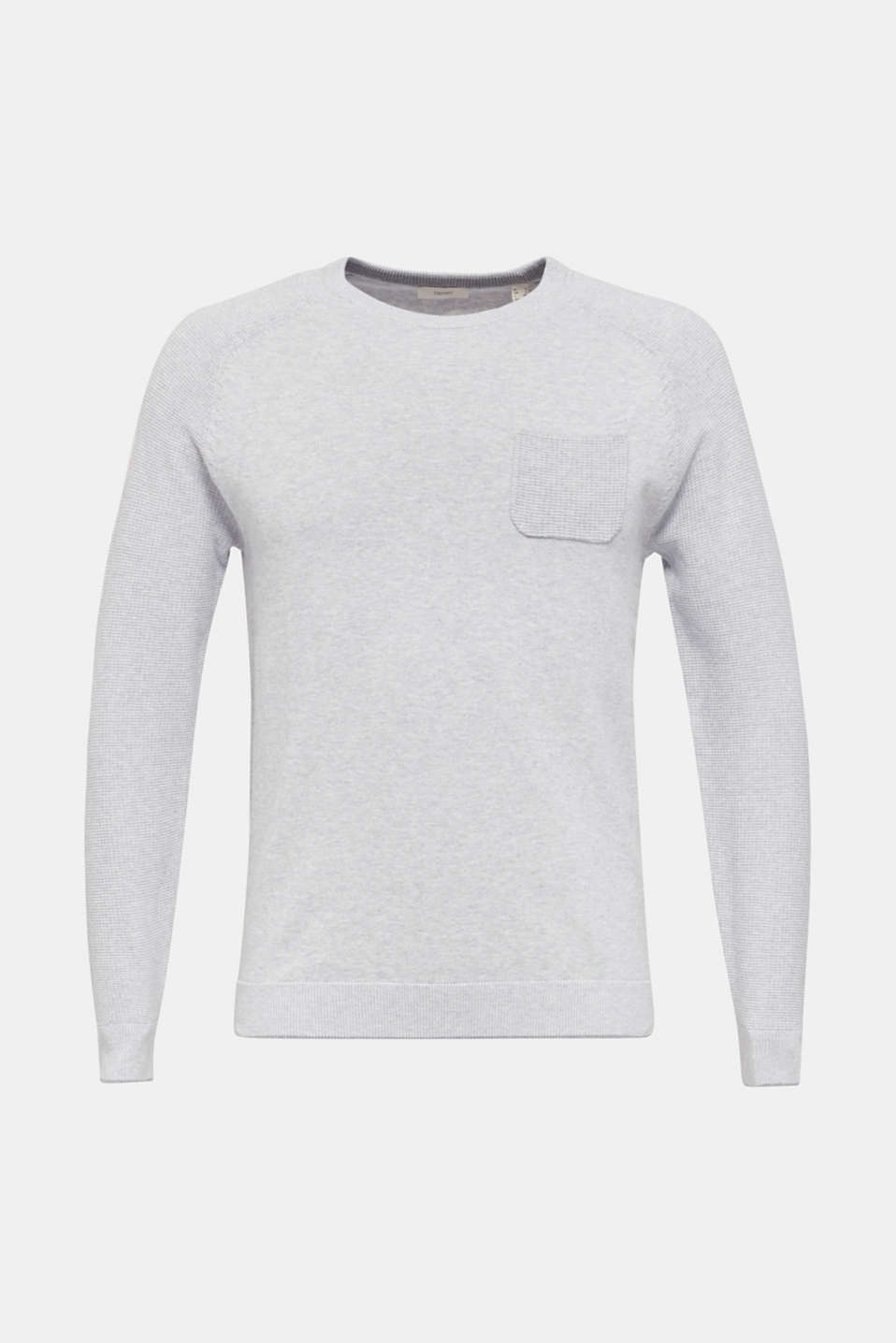 100% cotton jumper, LIGHT GREY 5, detail image number 6