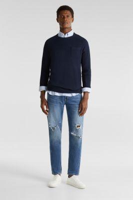 100% cotton jumper, NAVY 2, detail
