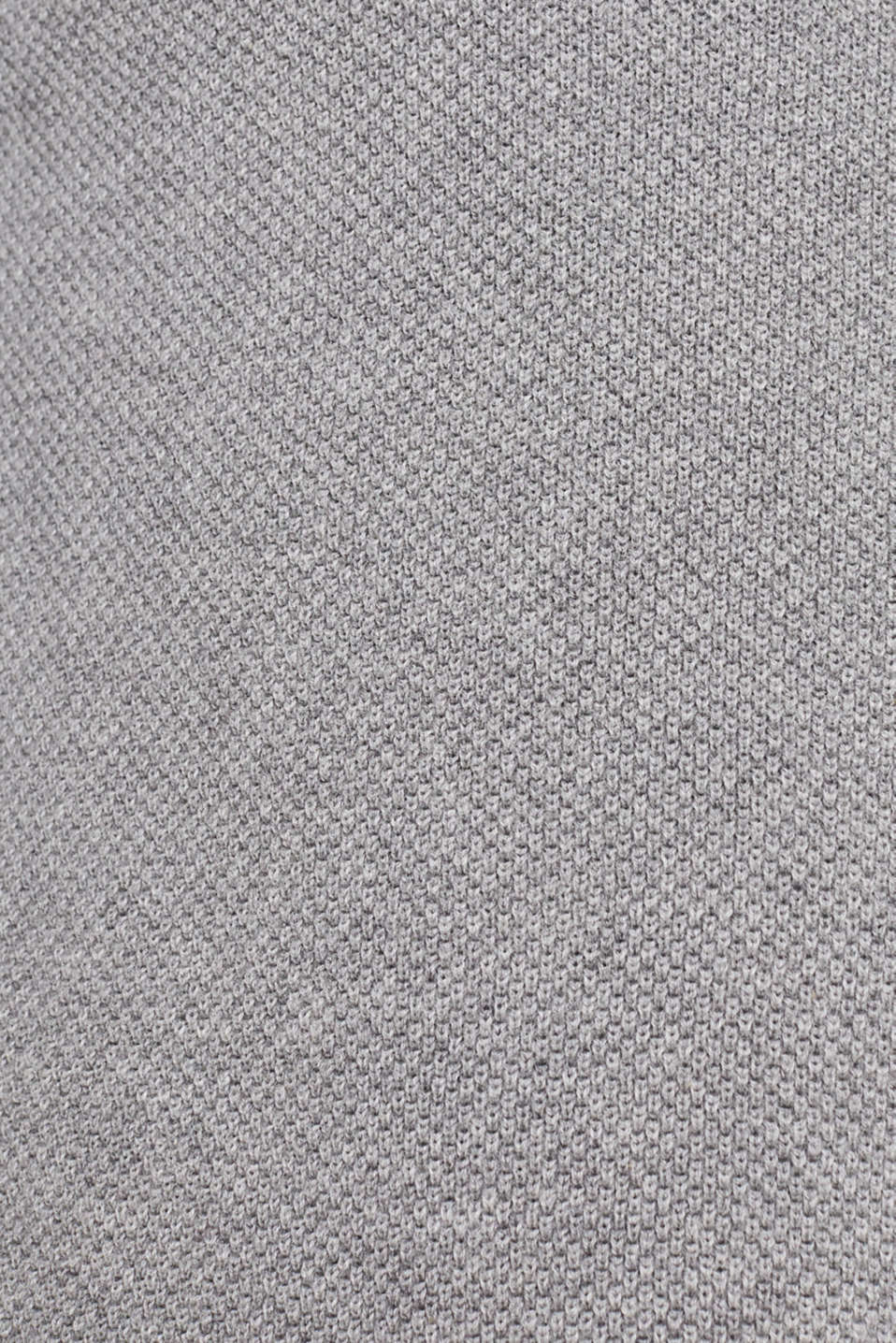 Textured cardigan in 100% cotton, MEDIUM GREY 5, detail image number 4