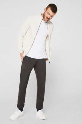 Textured cardigan in 100% cotton, OFF WHITE 5, detail