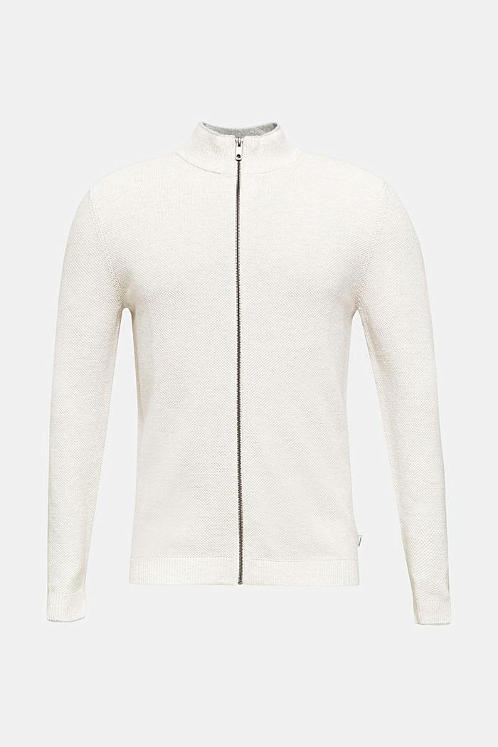 Gestructureerd vest van 100% katoen, OFF WHITE, detail image number 0