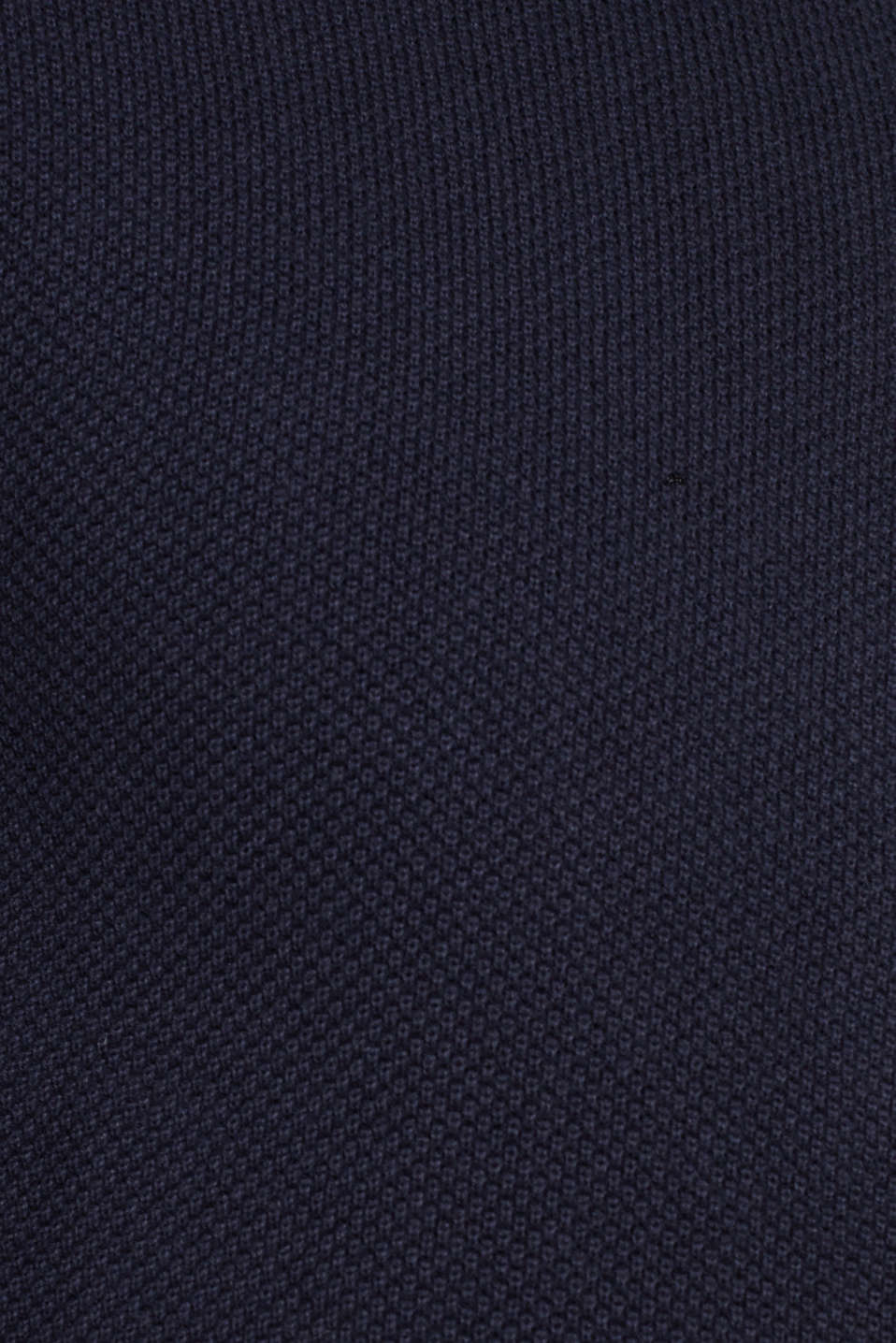 Textured cardigan in 100% cotton, NAVY, detail image number 4