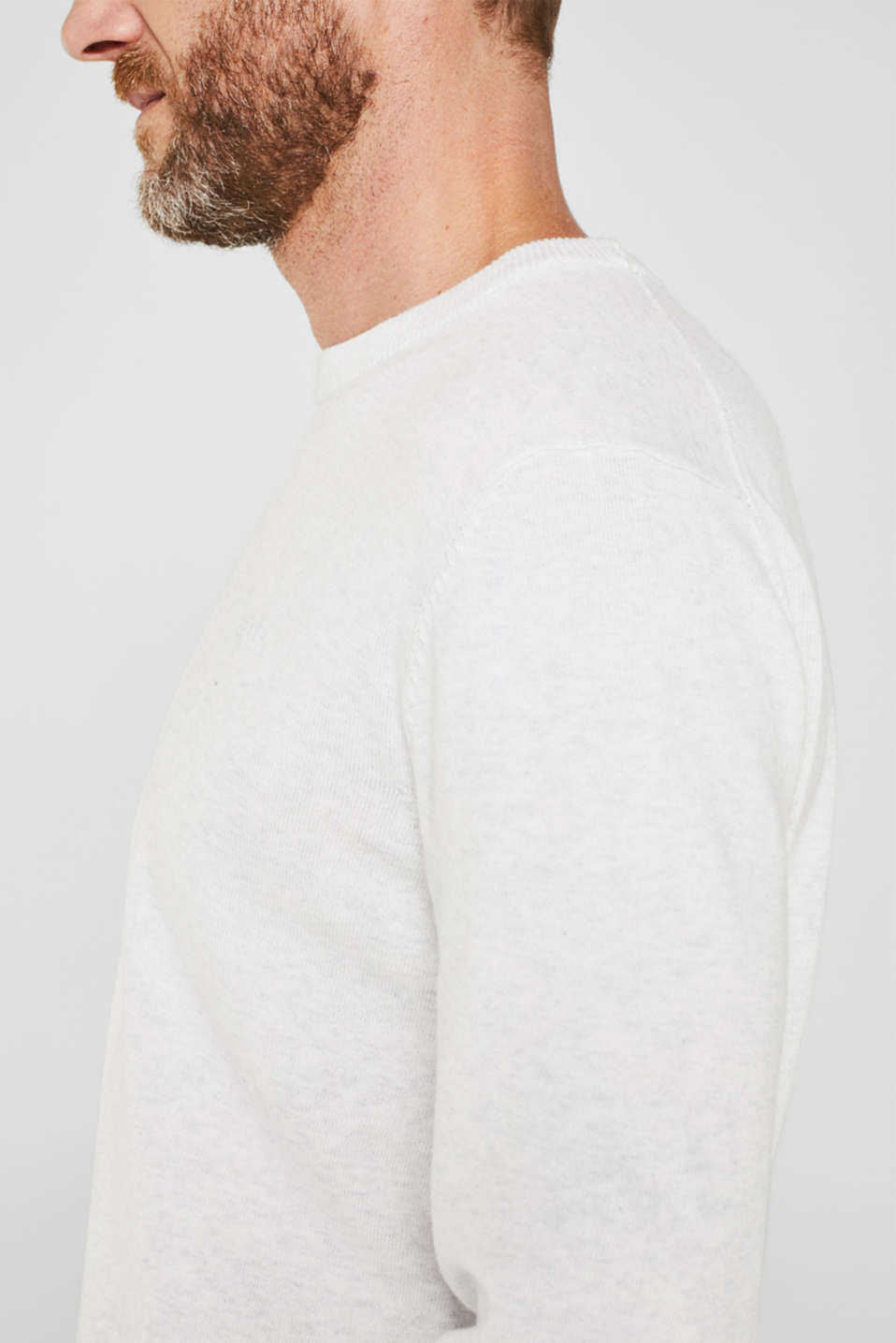 Basic jumper in 100% cotton, LIGHT GREY 5, detail image number 2