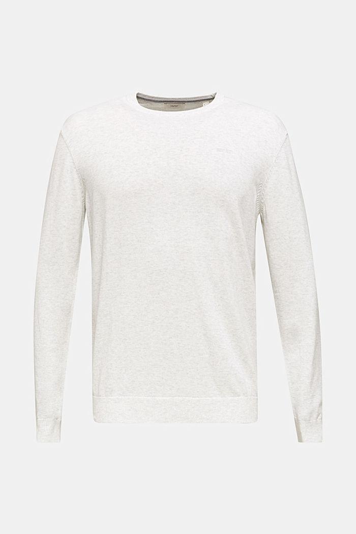 Basic trui van 100% katoen, LIGHT GREY 5, detail image number 0