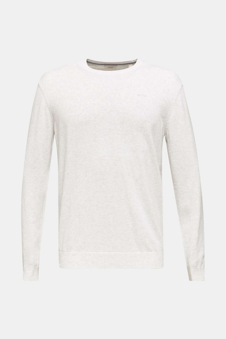 Basic jumper in 100% cotton, LIGHT GREY 5, detail image number 7