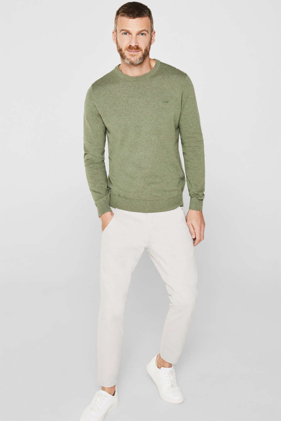 Sweaters, LIGHT KHAKI 5, detail image number 1