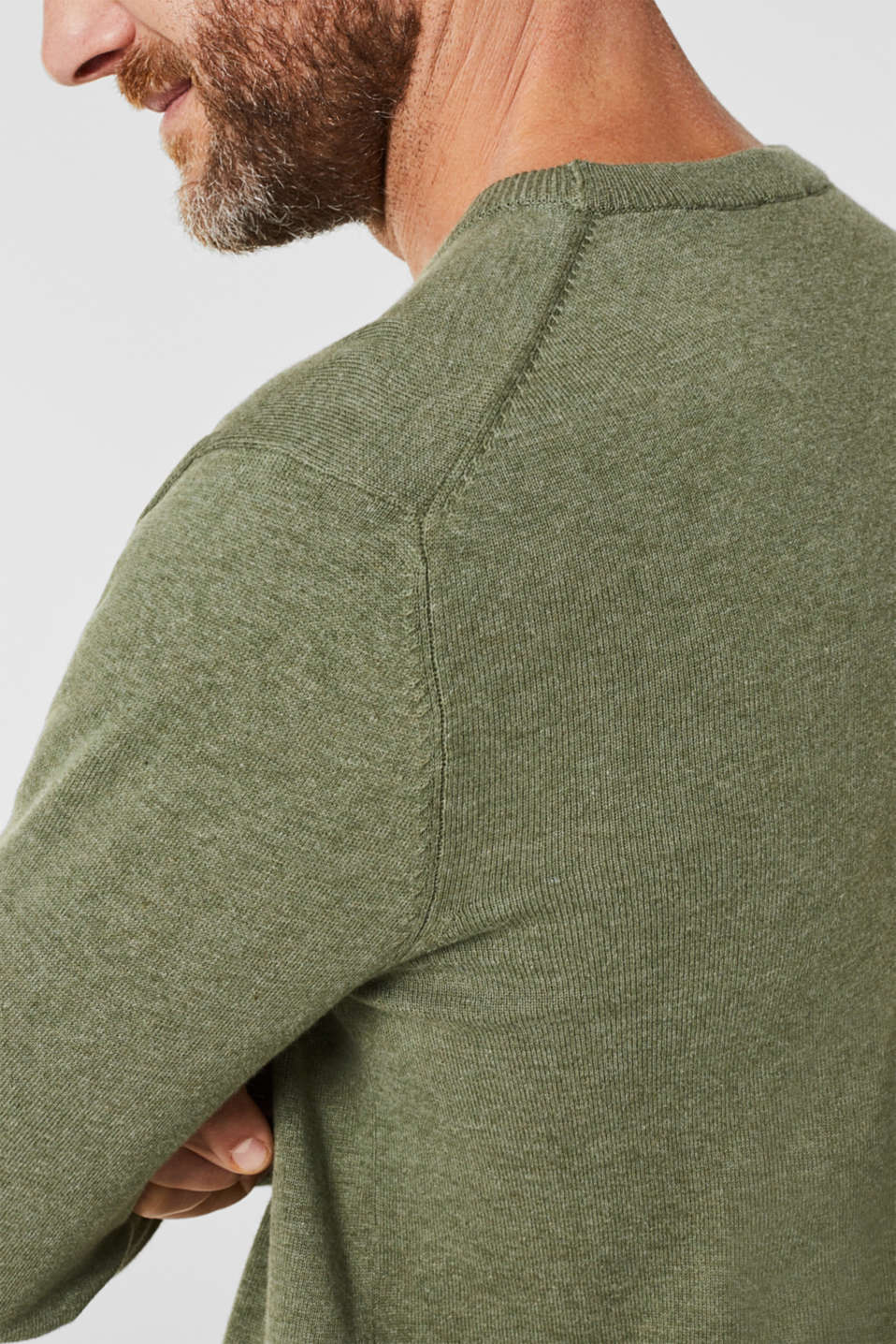 Sweaters, LIGHT KHAKI 5, detail image number 5