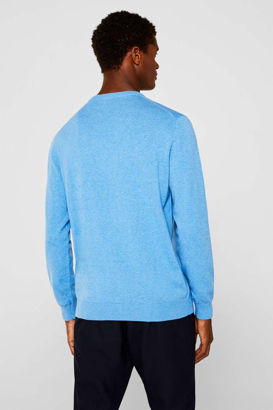 Basic jumper in 100% cotton, BRIGHT BLUE 5, detail image number 3