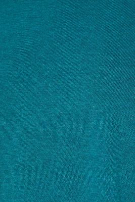 Basic jumper in 100% cotton, TEAL BLUE 5, detail