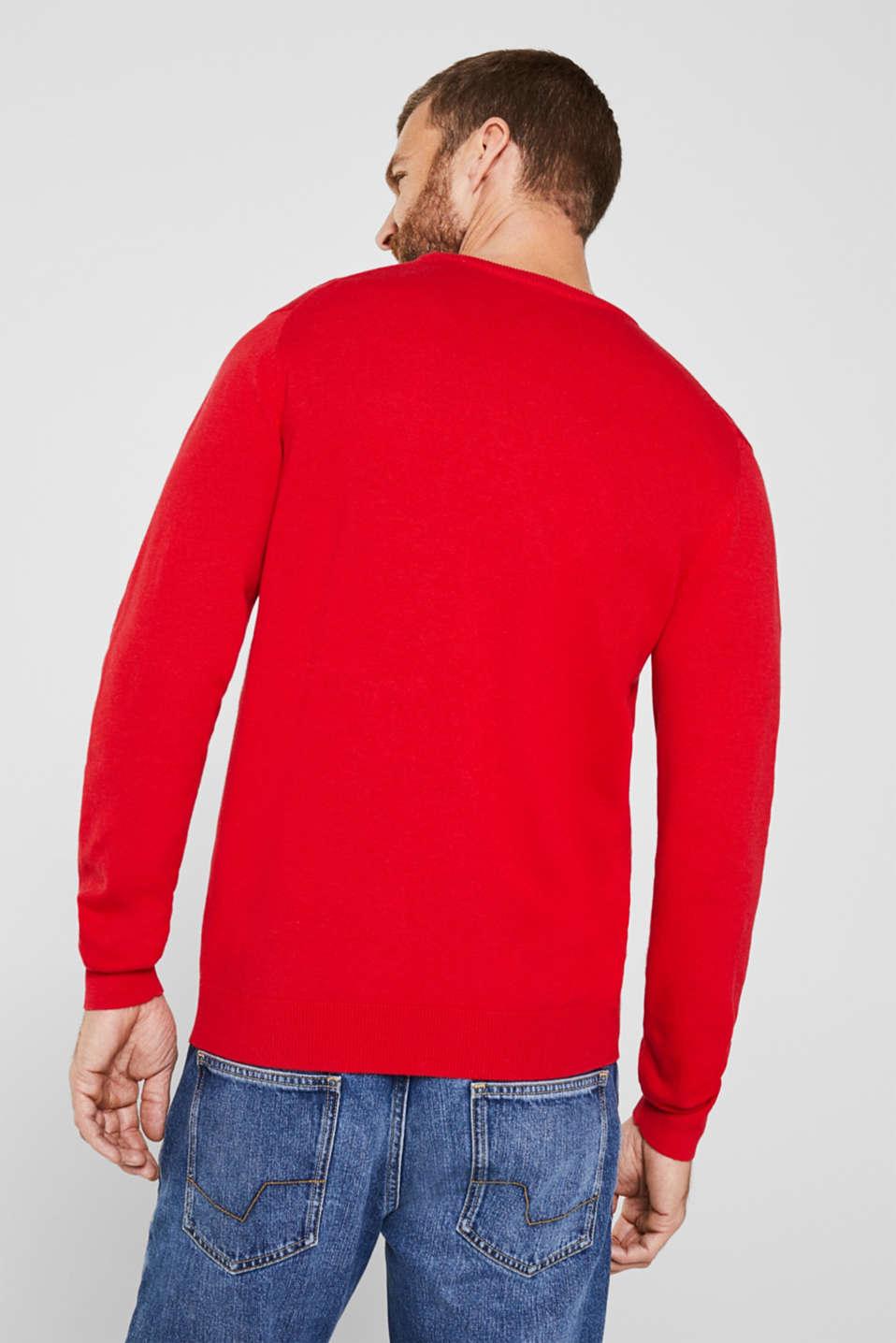 Basic jumper in 100% cotton, RED, detail image number 3