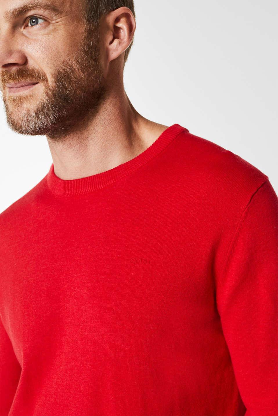 Basic jumper in 100% cotton, RED, detail image number 2