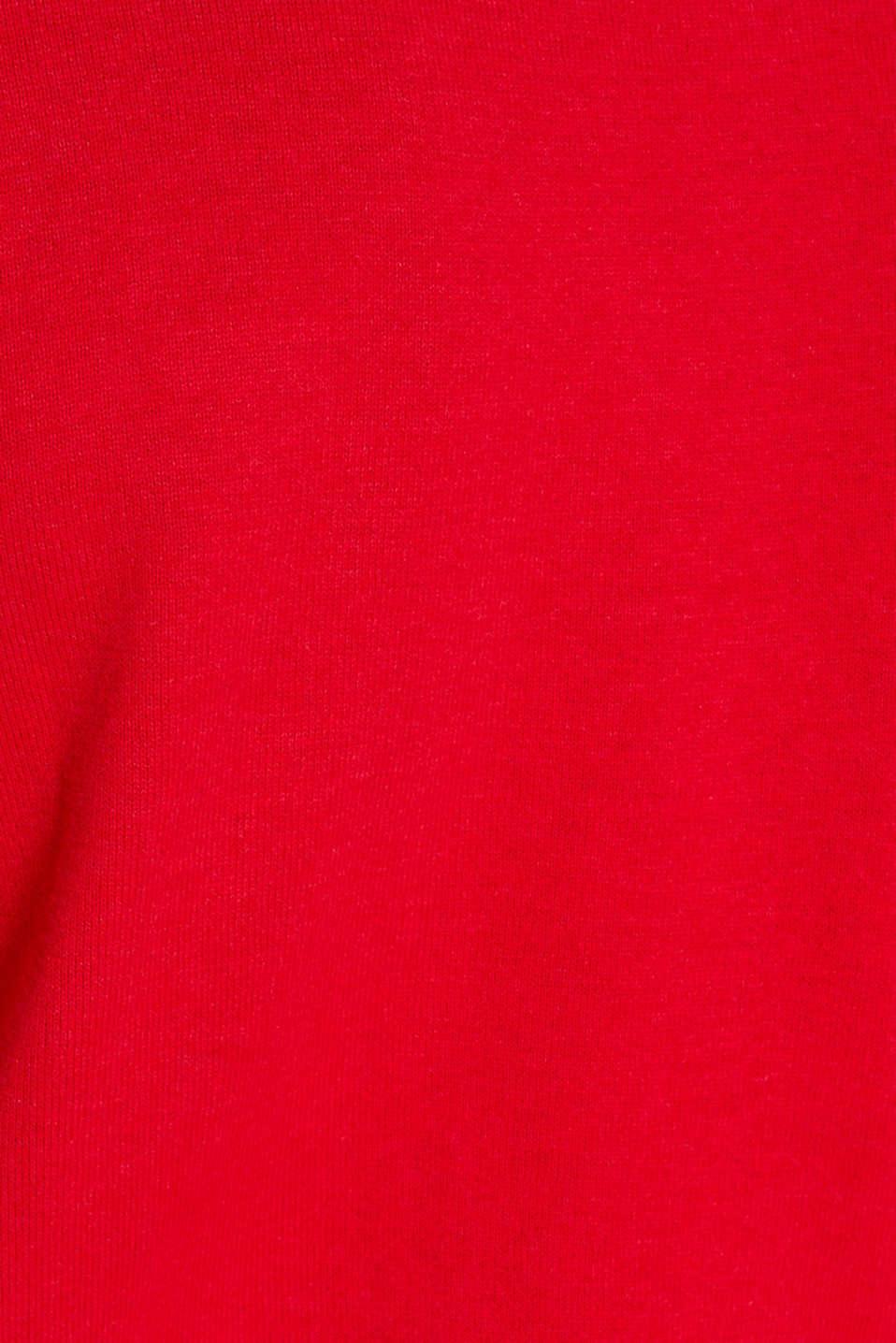 Basic jumper in 100% cotton, RED, detail image number 4