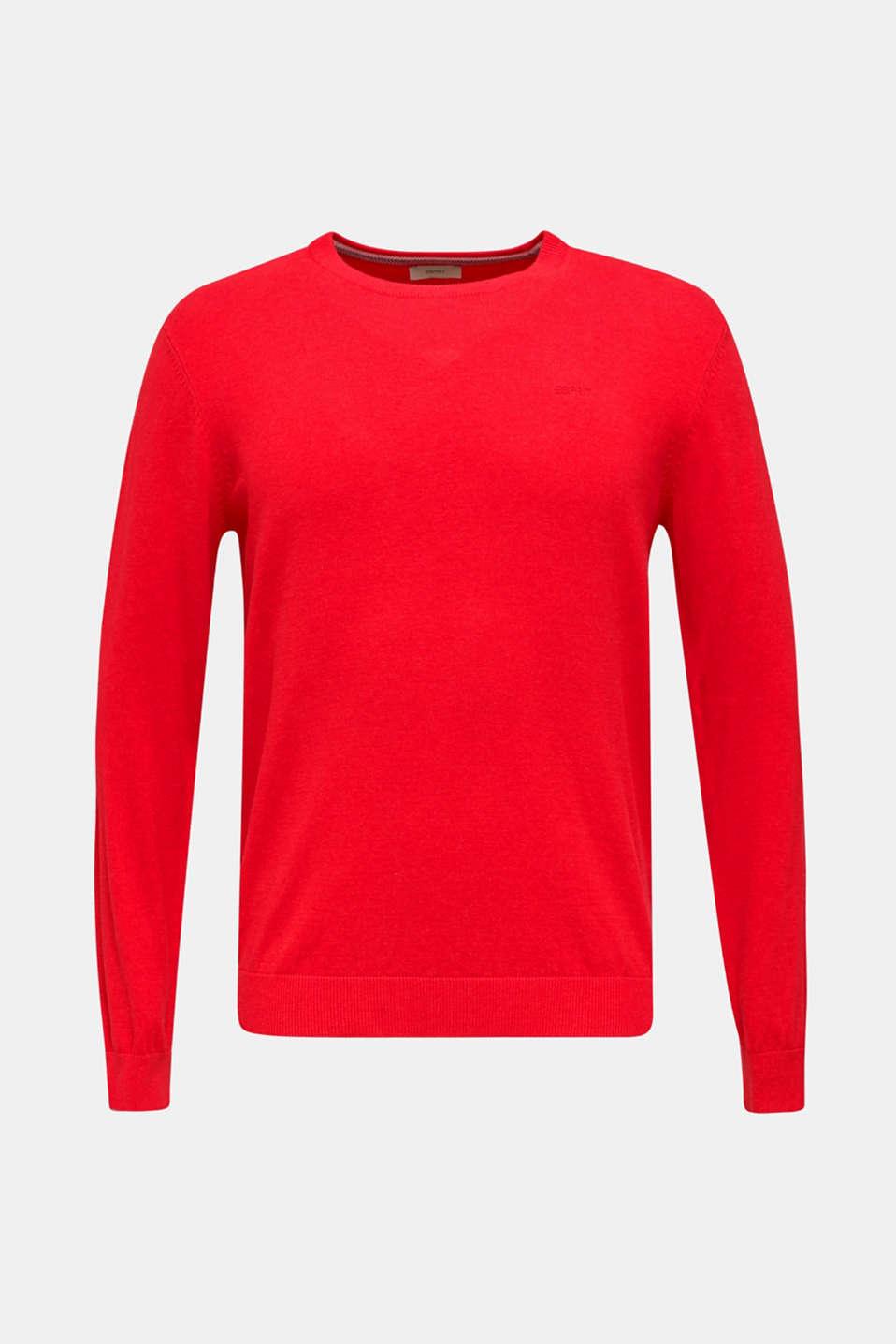 Basic jumper in 100% cotton, RED, detail image number 6