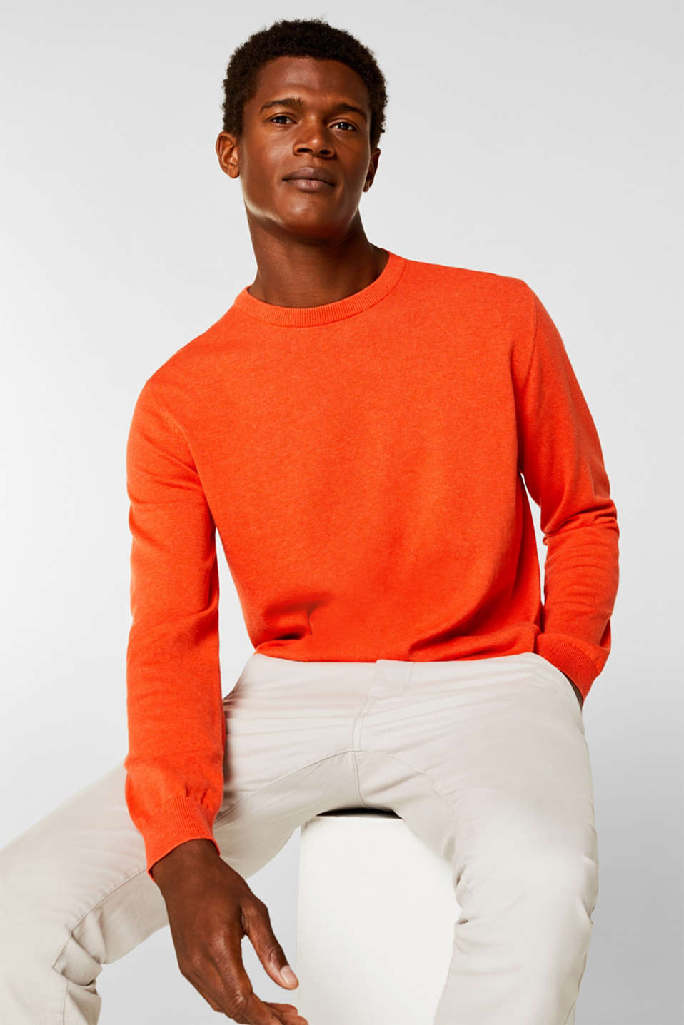 Esprit - Basic jumper in 100% cotton