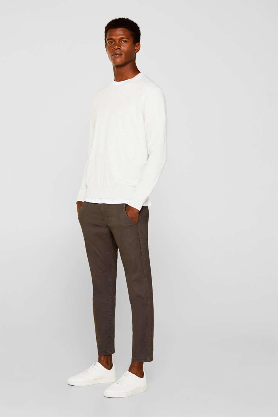 Basic jumper in 100% cotton, LIGHT GREY 5, detail image number 1