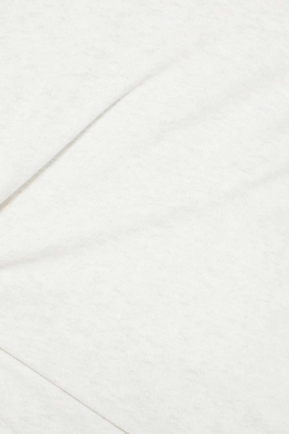 Basic jumper in 100% cotton, LIGHT GREY 5, detail image number 4