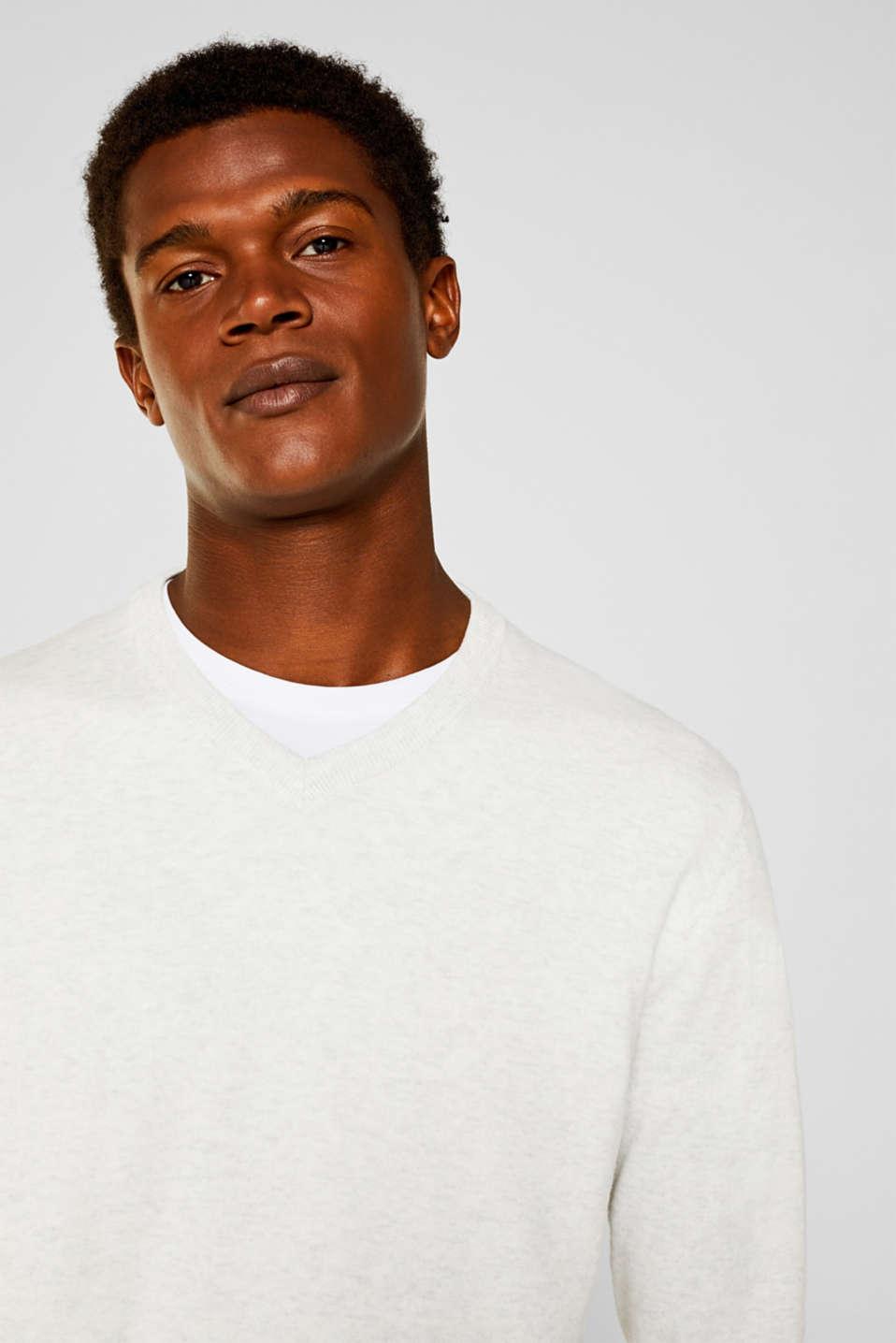 Basic jumper in 100% cotton, LIGHT GREY 5, detail image number 5