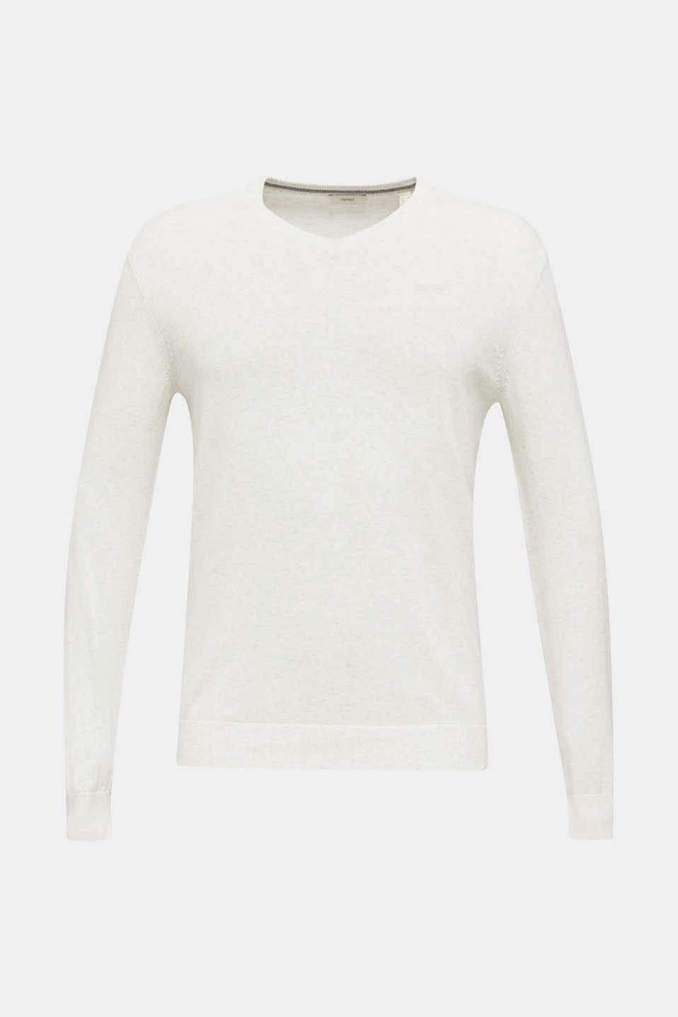 Basic jumper in 100% cotton, LIGHT GREY 5, detail image number 6