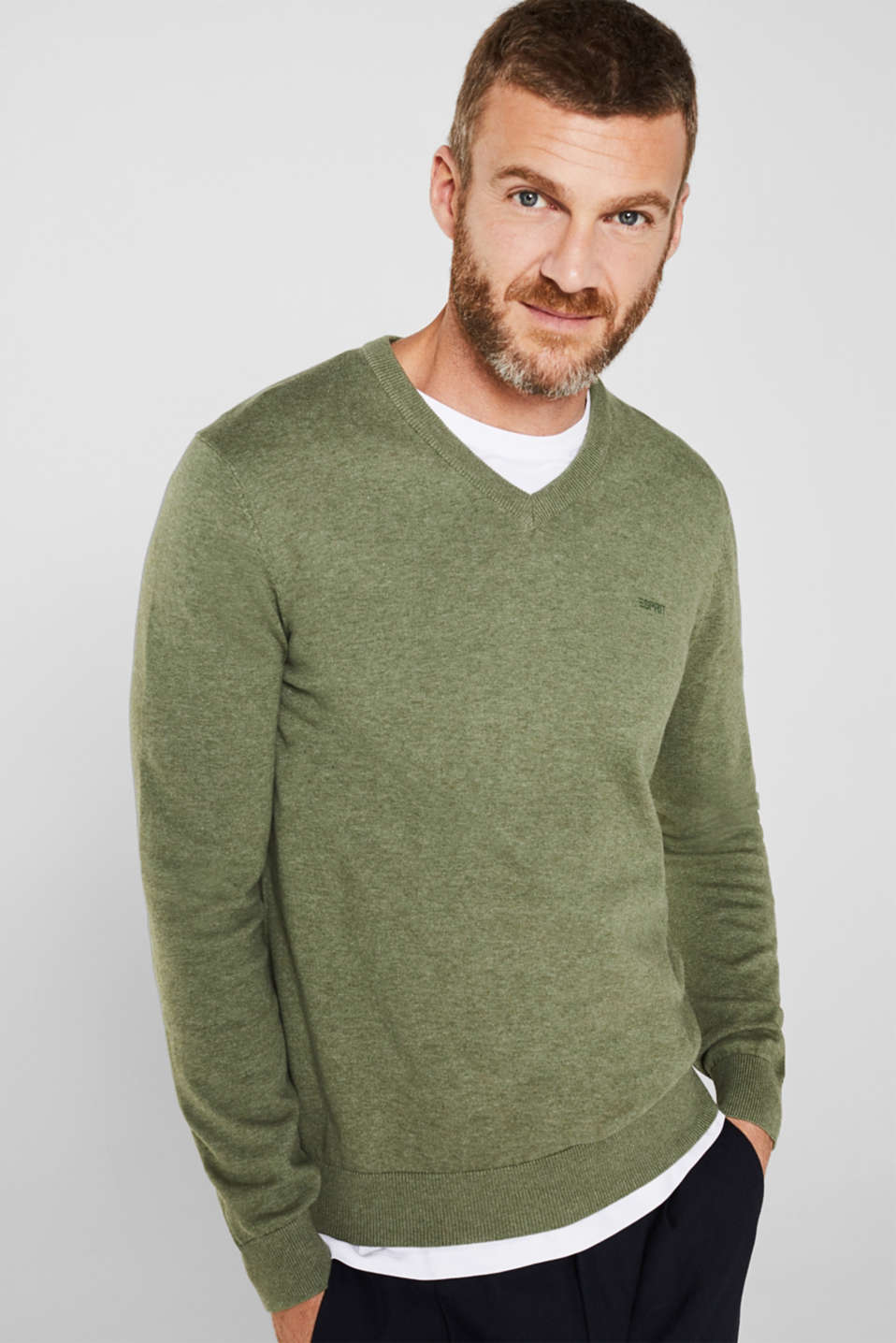 Sweaters, LIGHT KHAKI 5, detail image number 0