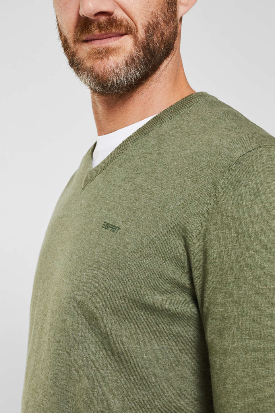Sweaters, LIGHT KHAKI 5, detail image number 2