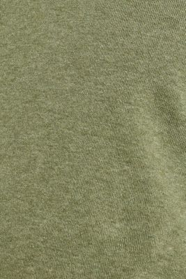 Basic jumper in 100% cotton, LIGHT KHAKI 5, detail