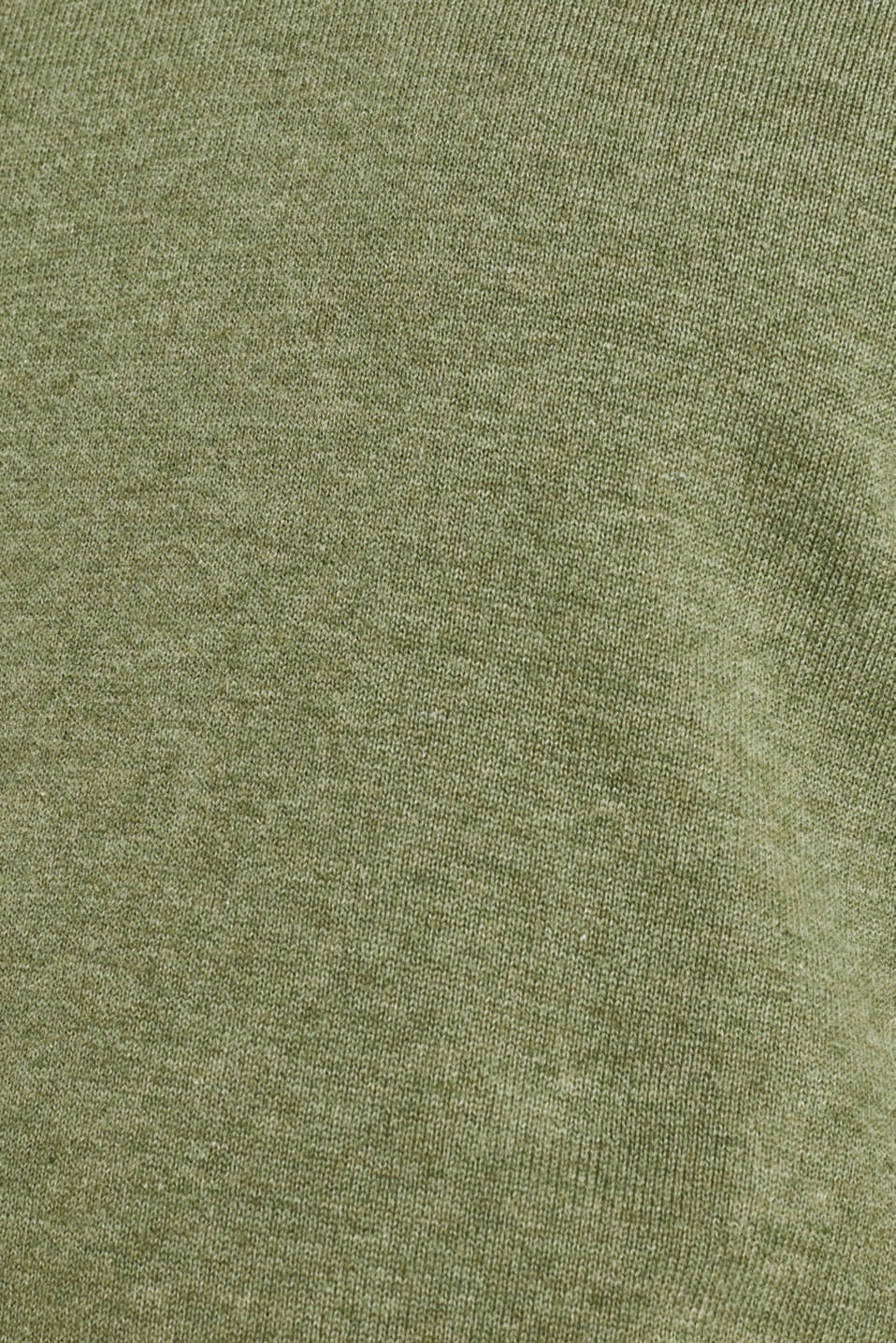 Basic jumper in 100% cotton, LIGHT KHAKI 5, detail image number 4