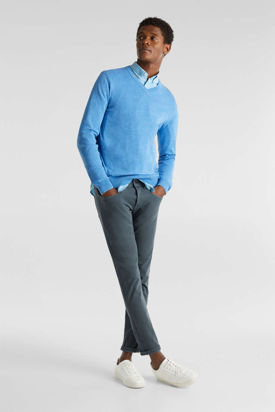 Sweaters, BRIGHT BLUE 5, detail image number 1