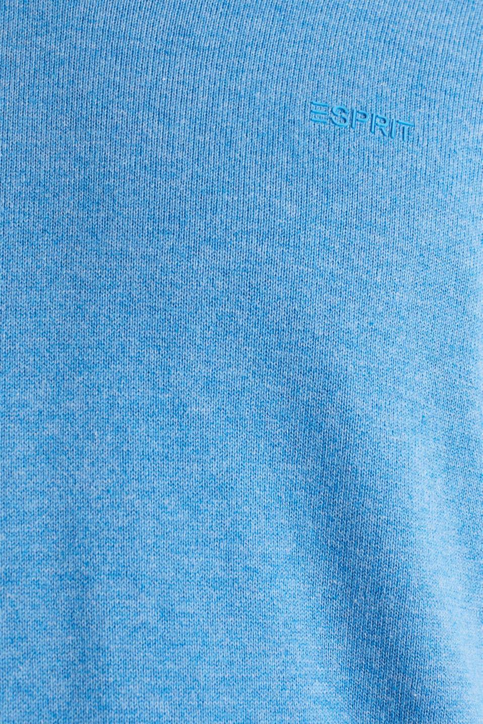 Basic jumper in 100% cotton, BRIGHT BLUE 5, detail image number 4