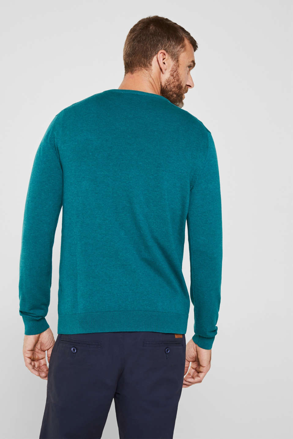 Sweaters, TEAL BLUE 5, detail image number 3