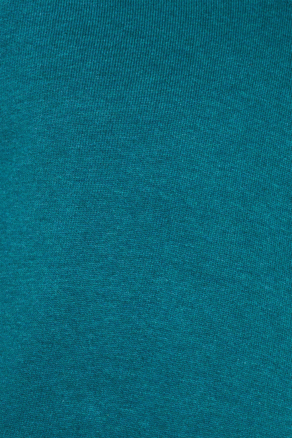 Sweaters, TEAL BLUE 5, detail image number 4