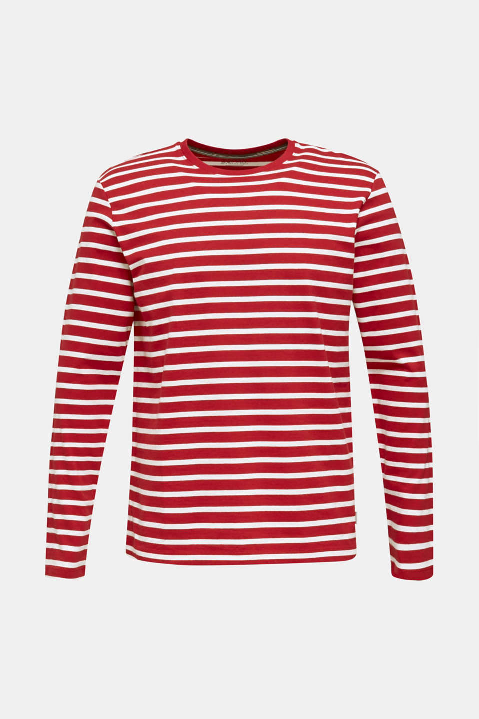 Long sleeve jersey top in 100% cotton, RED 3, detail image number 5