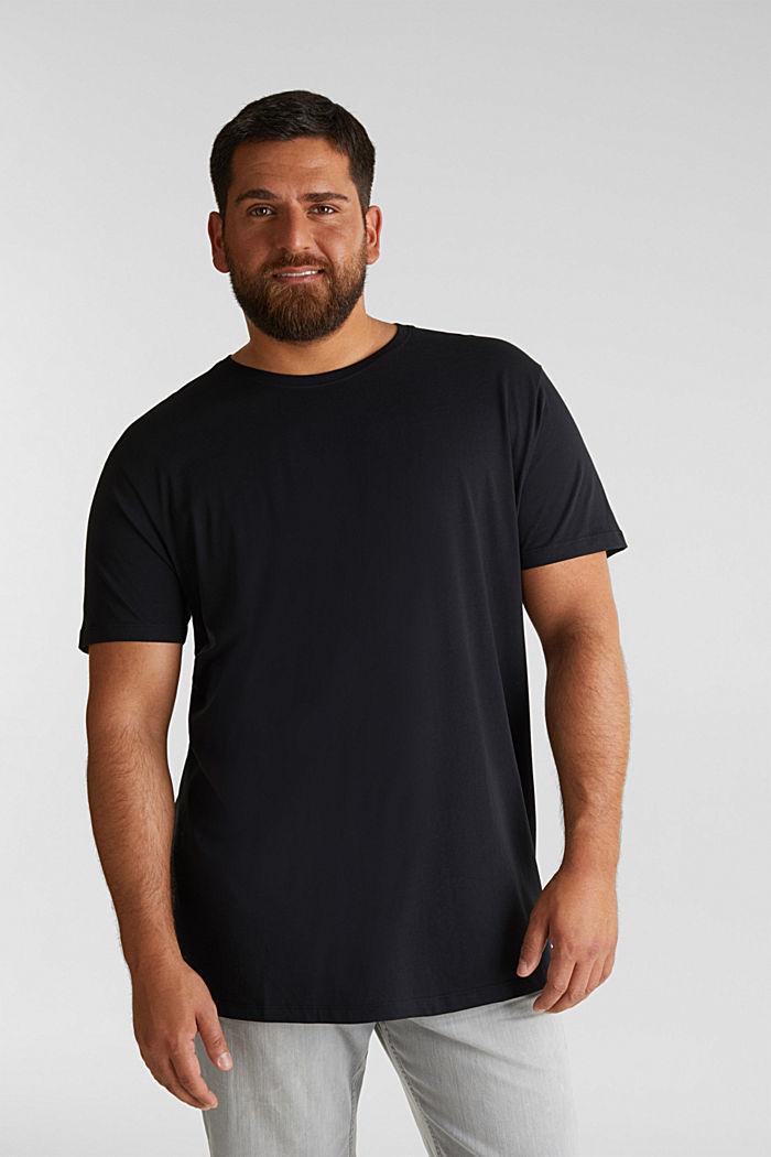 Jersey-T-Shirt aus 100% Bio-Baumwolle, BLACK, detail image number 0