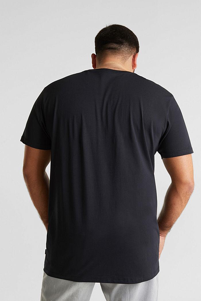 Jersey-T-Shirt aus 100% Bio-Baumwolle, BLACK, detail image number 3