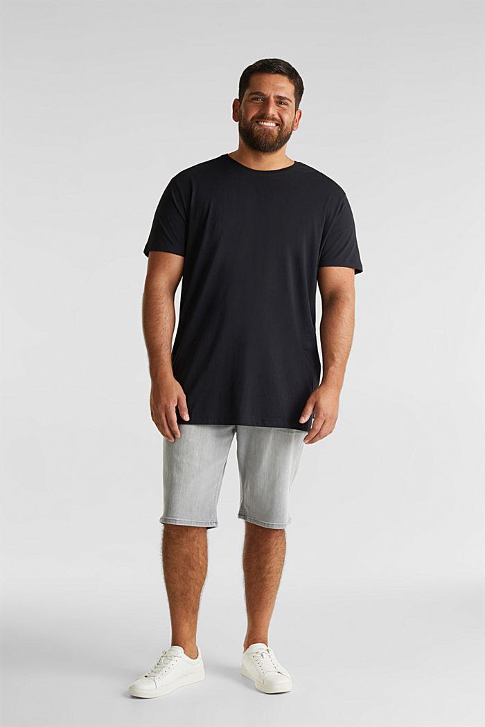 Jersey-T-Shirt aus 100% Bio-Baumwolle, BLACK, detail image number 2
