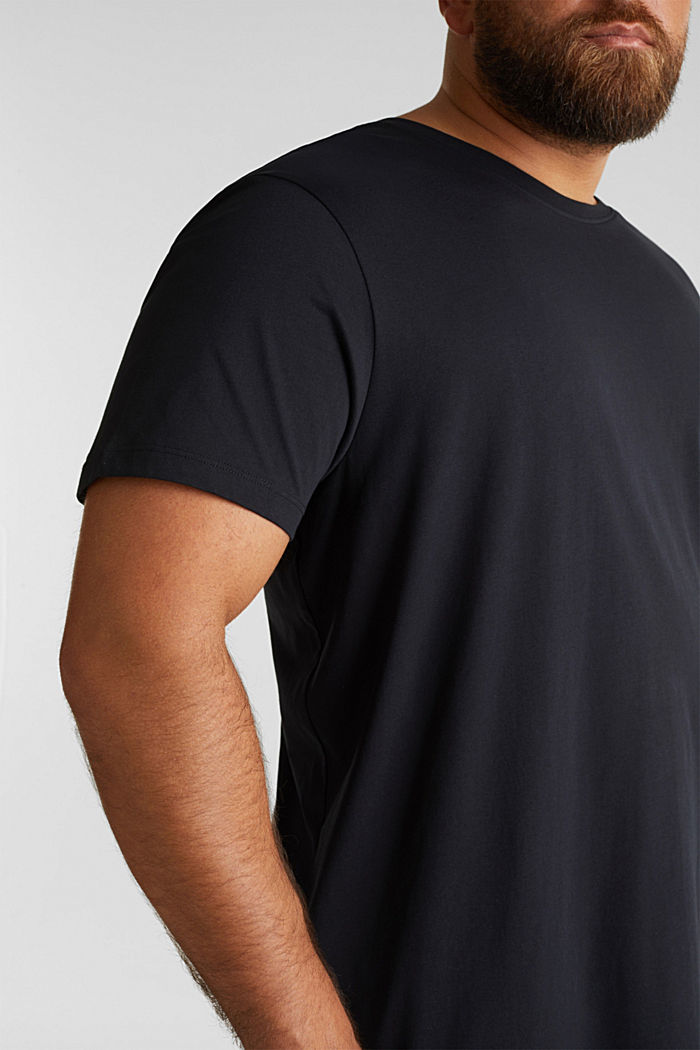 Jersey-T-Shirt aus 100% Bio-Baumwolle, BLACK, detail image number 1