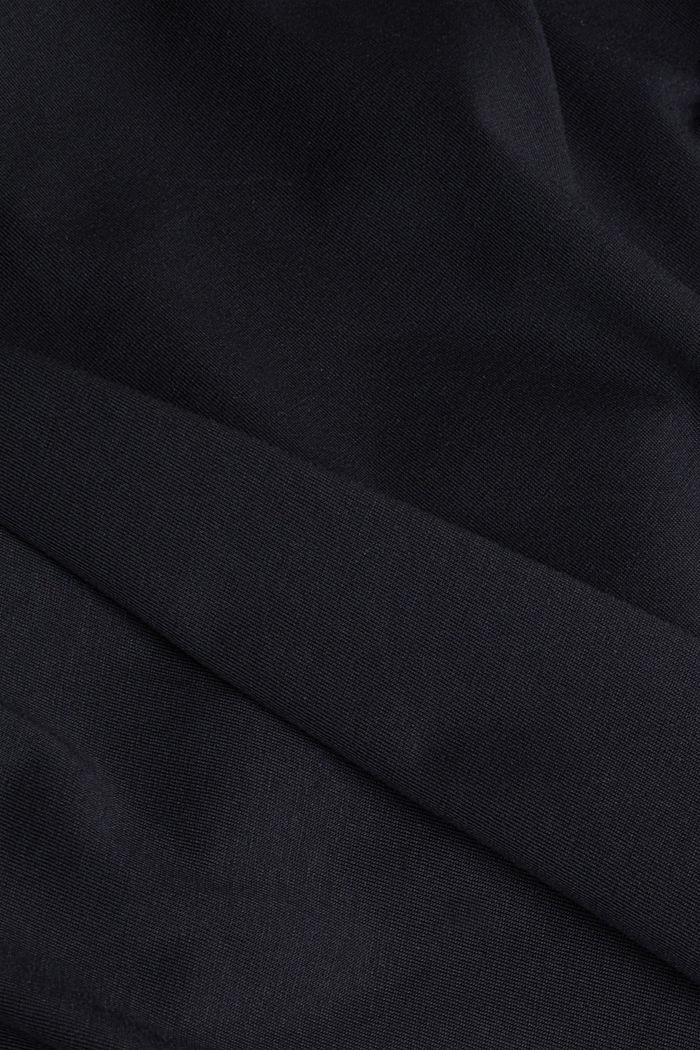 Jersey-T-Shirt aus 100% Bio-Baumwolle, BLACK, detail image number 4