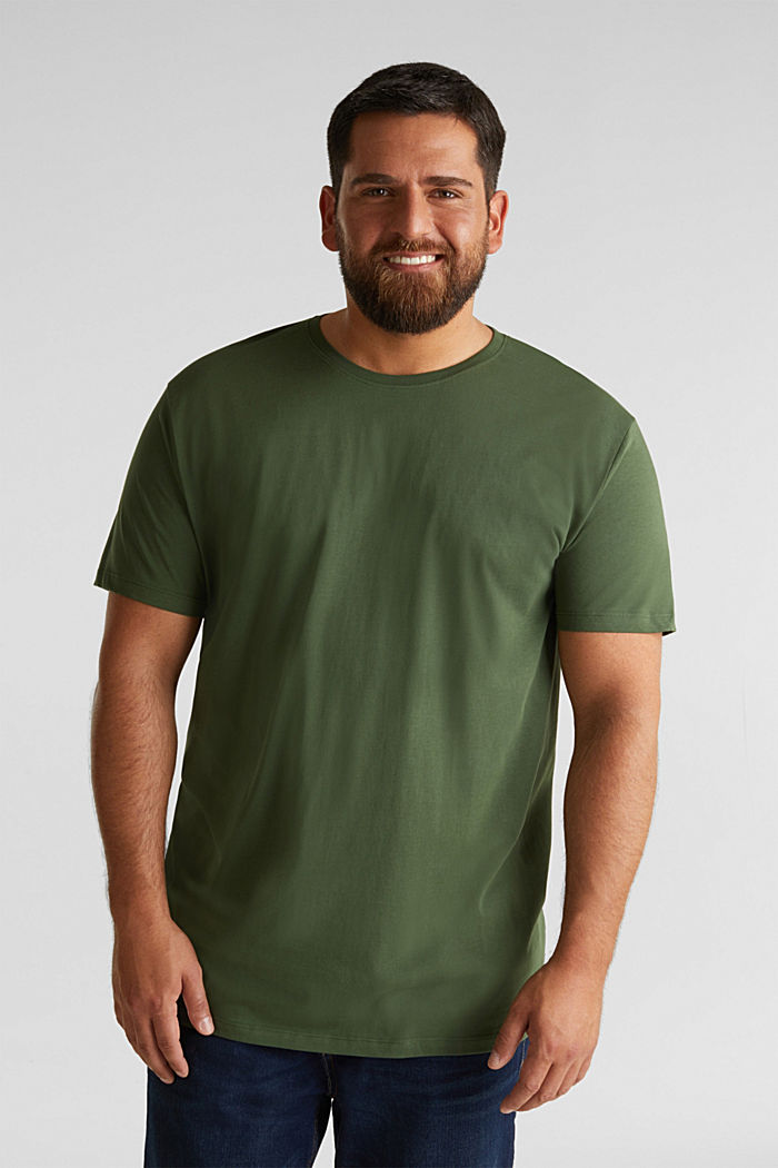 Jersey T-shirt made of 100% organic cotton, KHAKI GREEN, detail image number 0