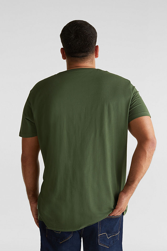 Jersey T-shirt made of 100% organic cotton, KHAKI GREEN, detail image number 3