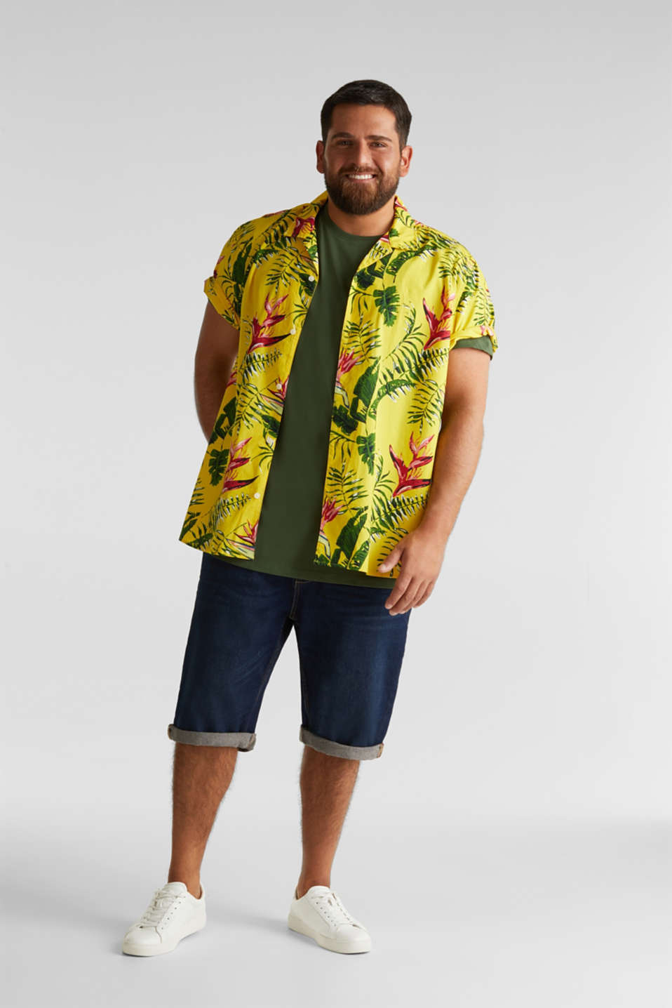 Jersey T-shirt made of 100% organic cotton, KHAKI GREEN, detail image number 2