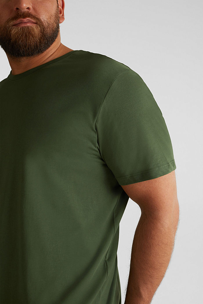Jersey T-shirt made of 100% organic cotton, KHAKI GREEN, detail image number 1