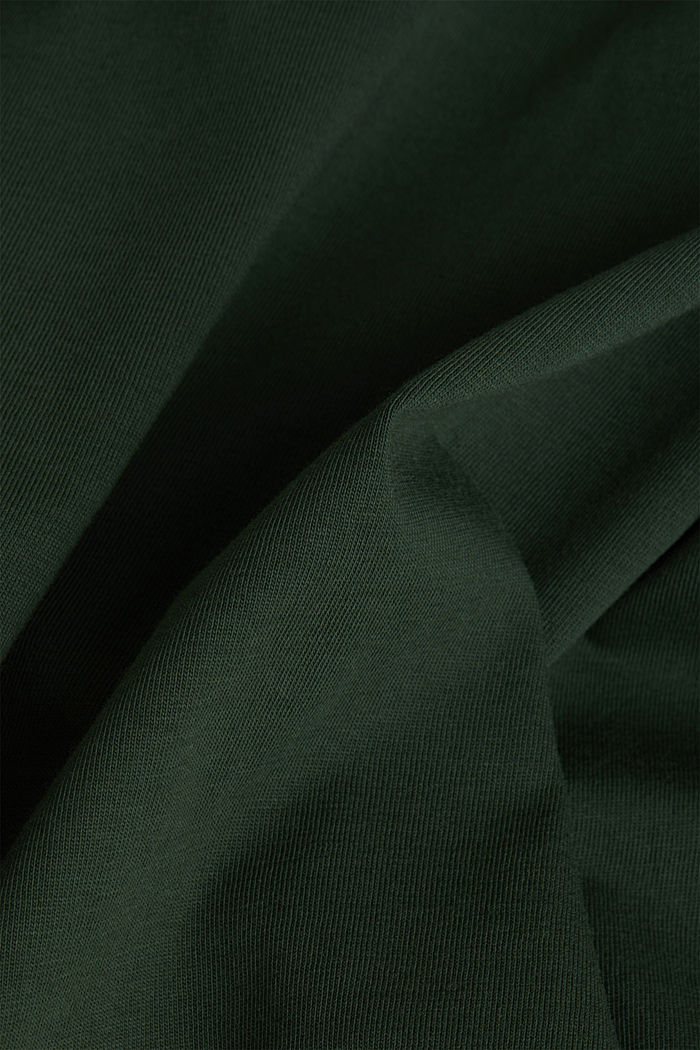 Jersey T-shirt made of 100% organic cotton, KHAKI GREEN, detail image number 4