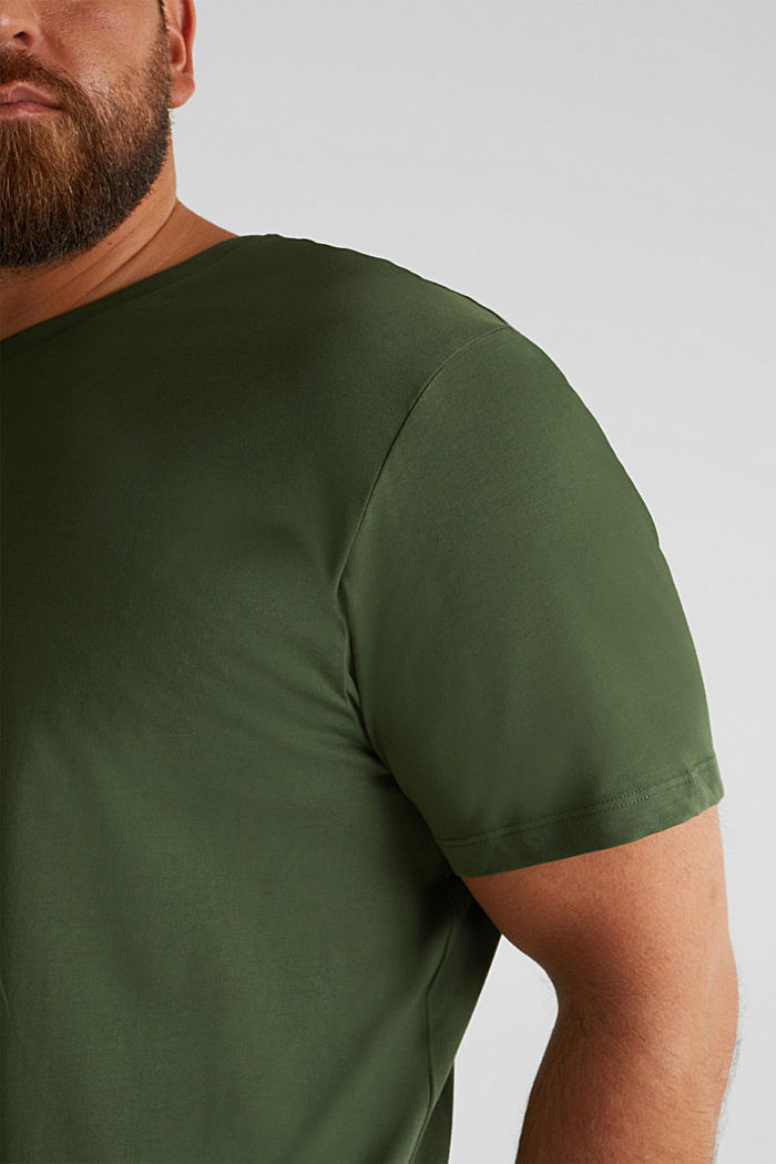 Jersey T-shirt made of 100% organic cotton, KHAKI GREEN, detail image number 5