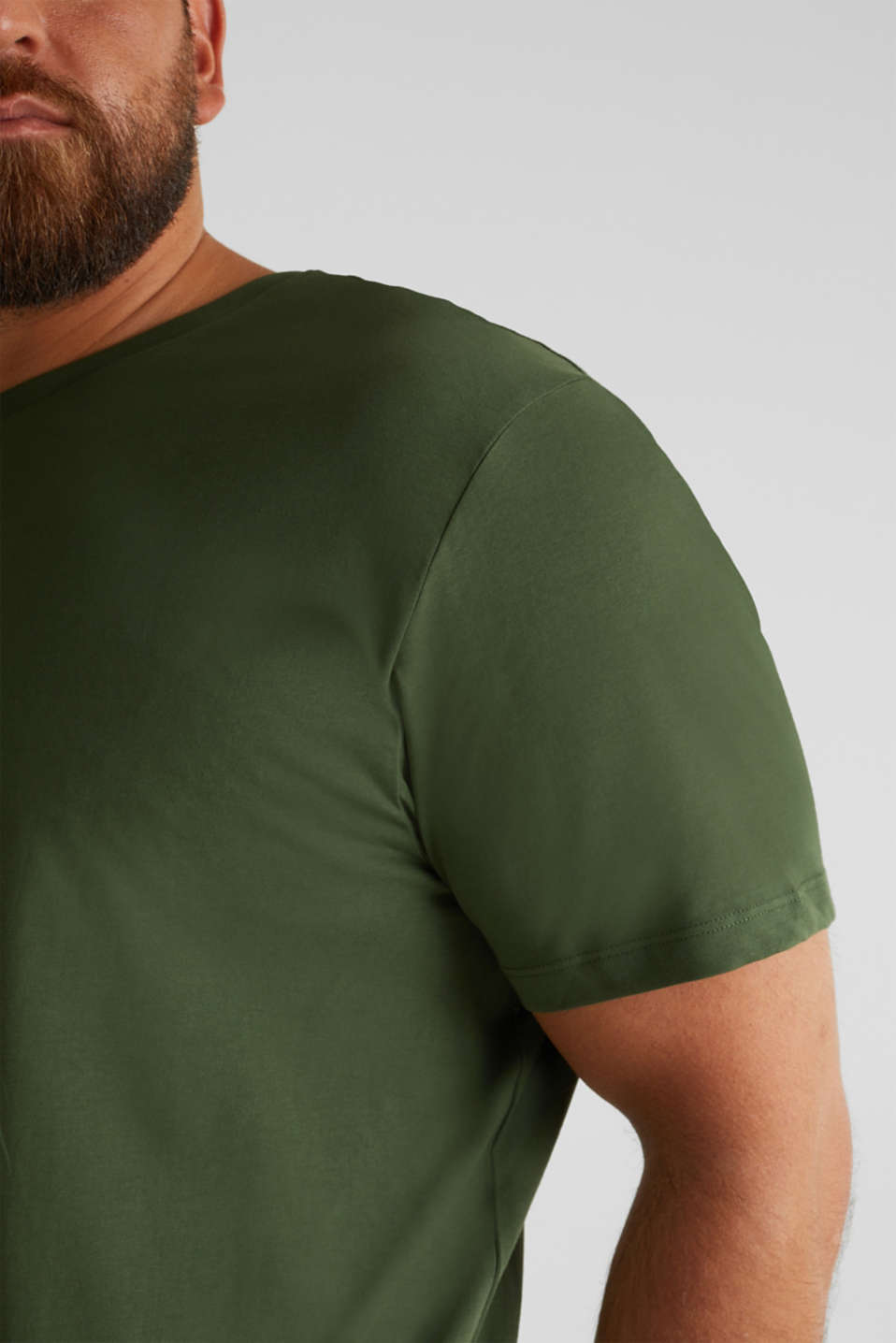 Jersey T-shirt made of 100% organic cotton, KHAKI GREEN, detail image number 5