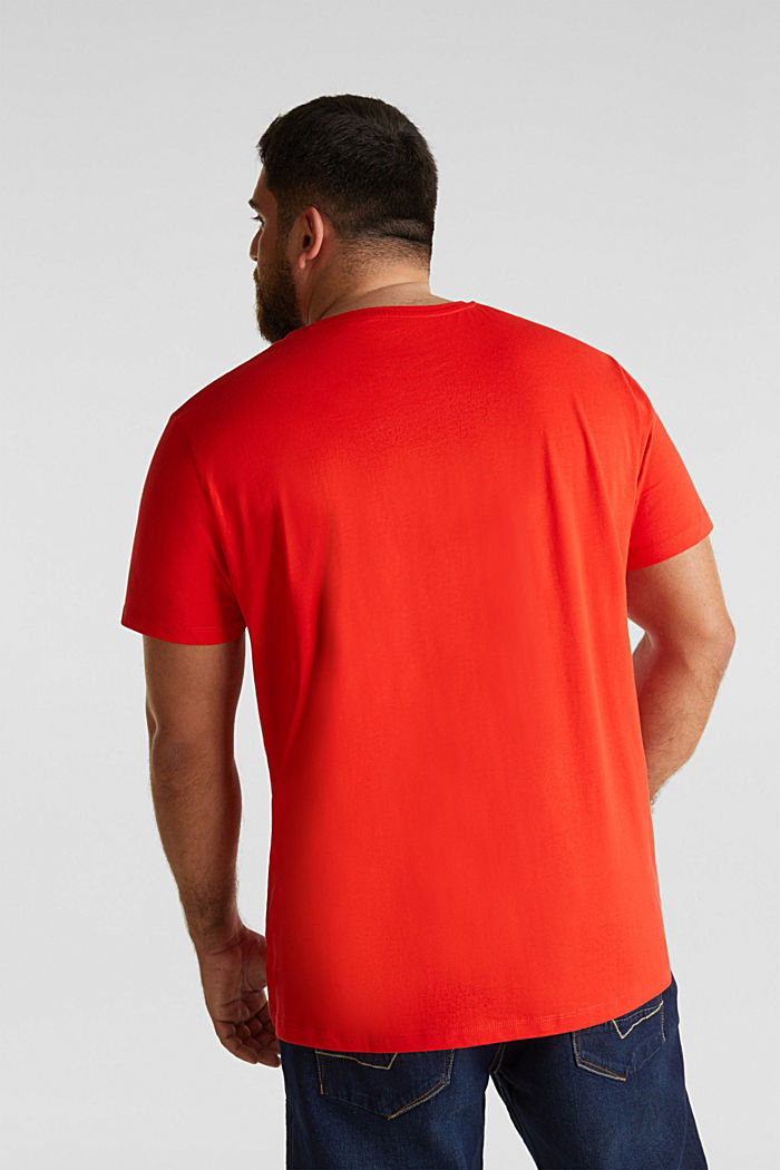 Jersey-Shirt aus 100% Organic Cotton, ORANGE RED, detail image number 3