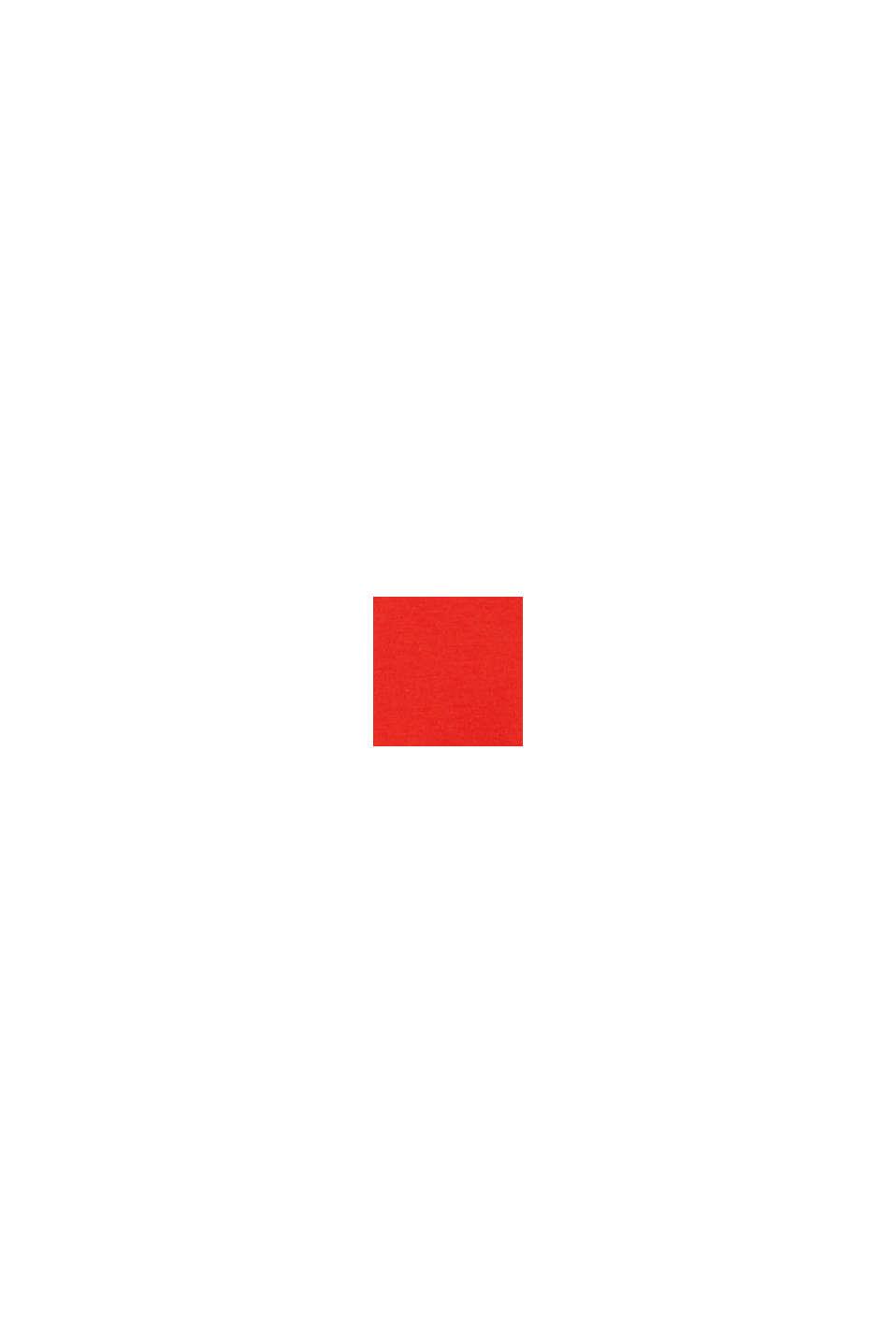 Jerseypusero 100 % luomupuuvillaa, ORANGE RED, swatch