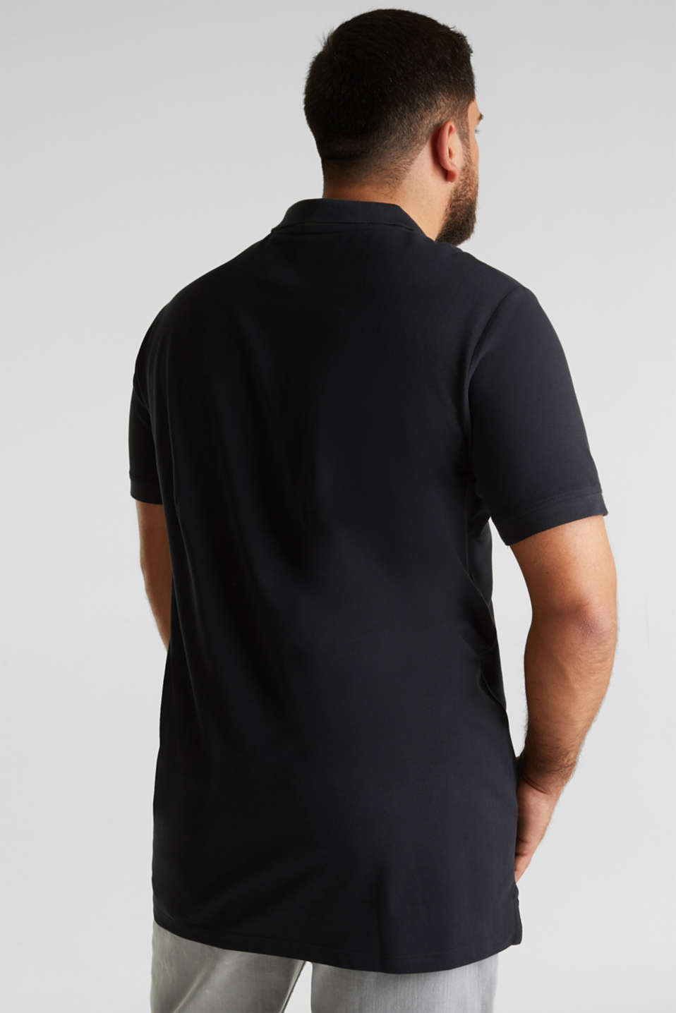 Polo shirt in 100% organic cotton, BLACK, detail image number 3