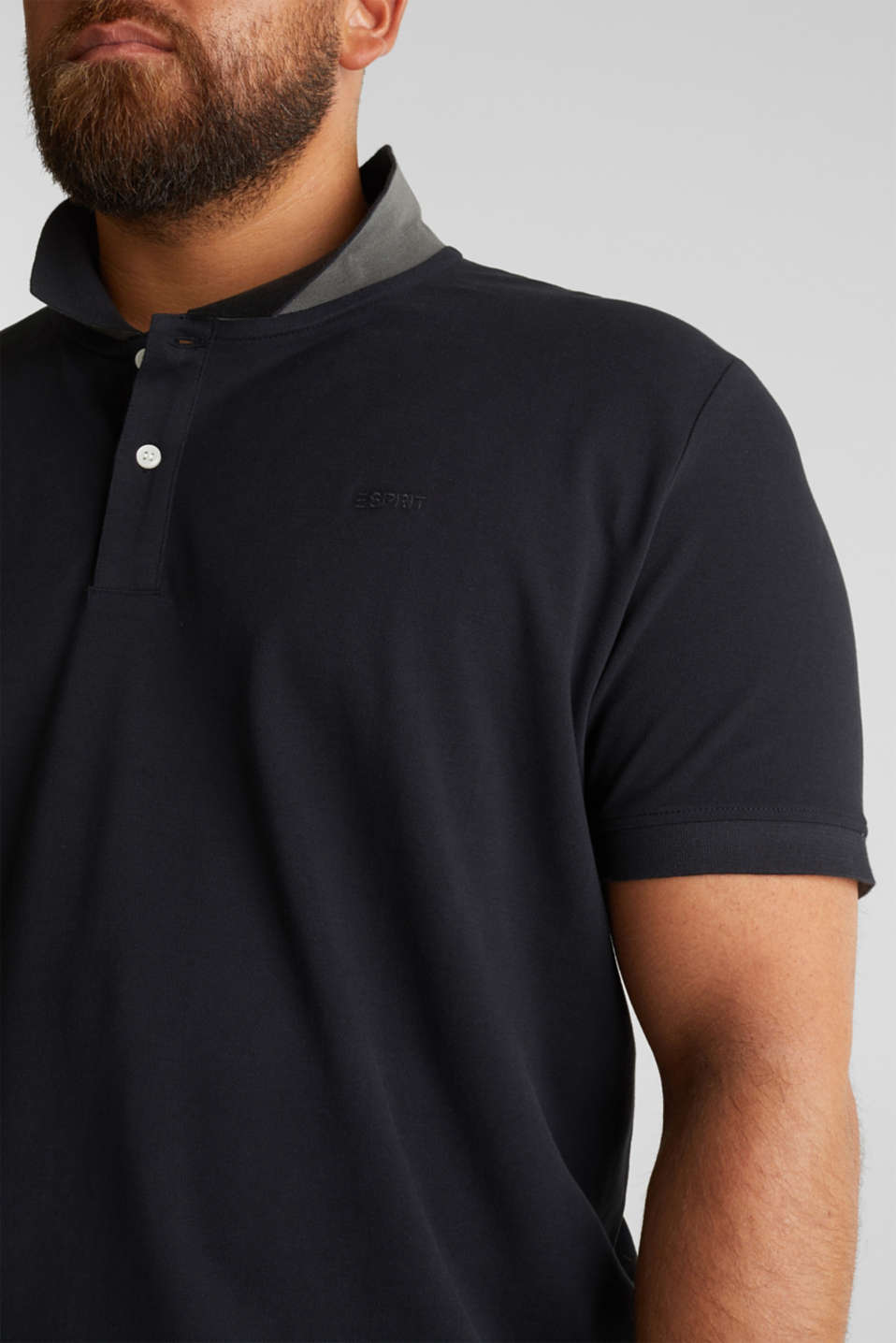 Polo shirt in 100% organic cotton, BLACK, detail image number 1