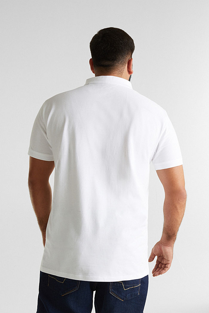 Polo shirt in 100% organic cotton, WHITE, detail image number 3