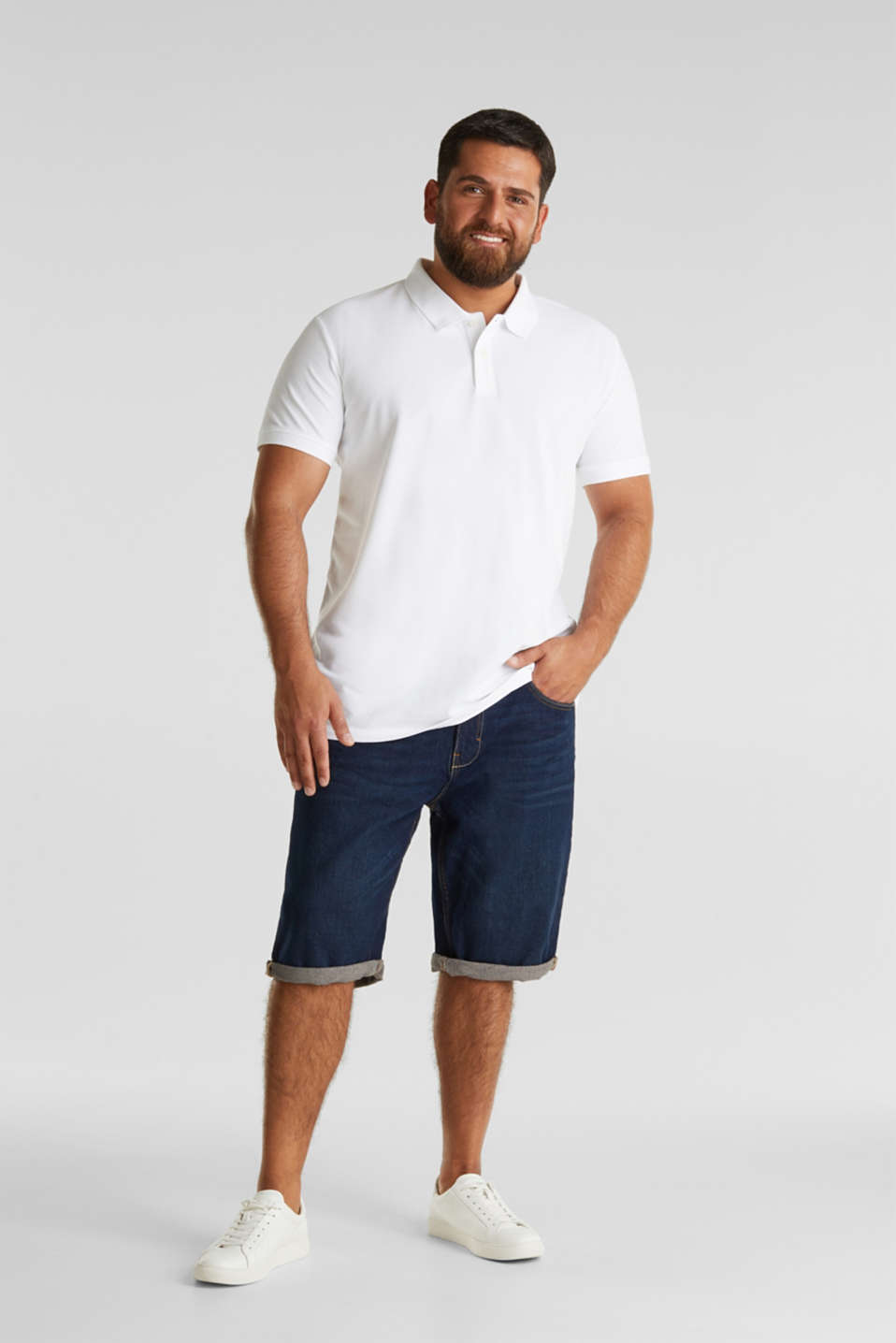 Polo shirt in 100% organic cotton, WHITE, detail image number 2