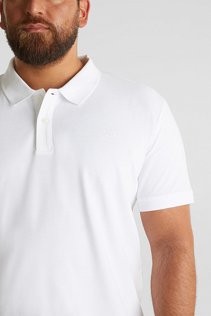 Polo shirt in 100% organic cotton, WHITE, detail image number 1